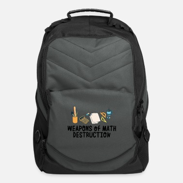 Algebra Math weapon quote school student present - Computer Backpack