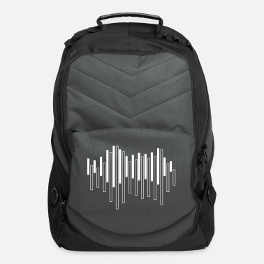 Awesome Piano Sound Wave - Computer Backpack