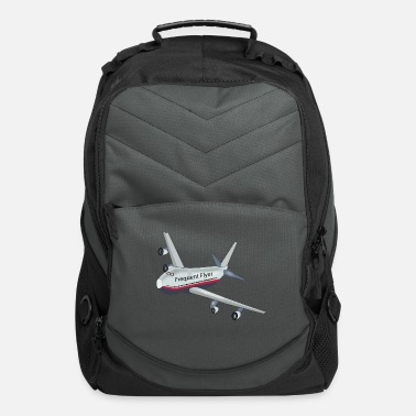 Text frequent flyer cover page - Computer Backpack