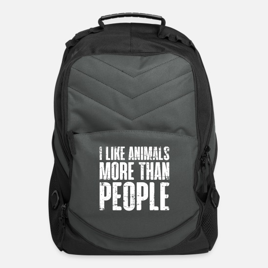 Animal Rights Activists Bags & Backpacks - Animal lover vegan meatless quote gift - Computer Backpack charcoal