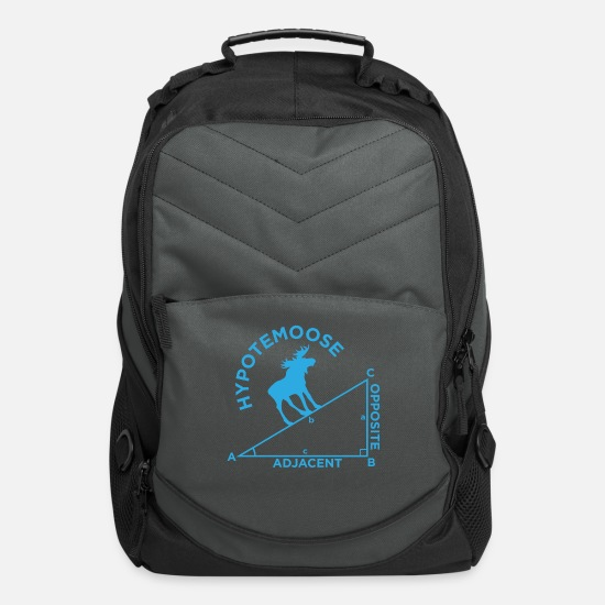Student Bags & Backpacks - Math Geometry Moose school student quote gift - Computer Backpack charcoal