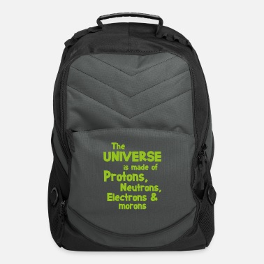Funny Science Quotes Science quote morons student gift - Computer Backpack