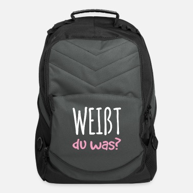 Siblings You know what pregnancy baby gift - Computer Backpack