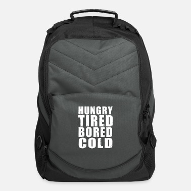 Cold Blood HUNGRY TIRED BORED AND COLD WHITE - Computer Backpack