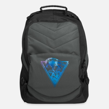 Topseller Triangle with sea waves - Computer Backpack