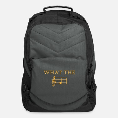 Techno What the gift music raving concert party - Computer Backpack