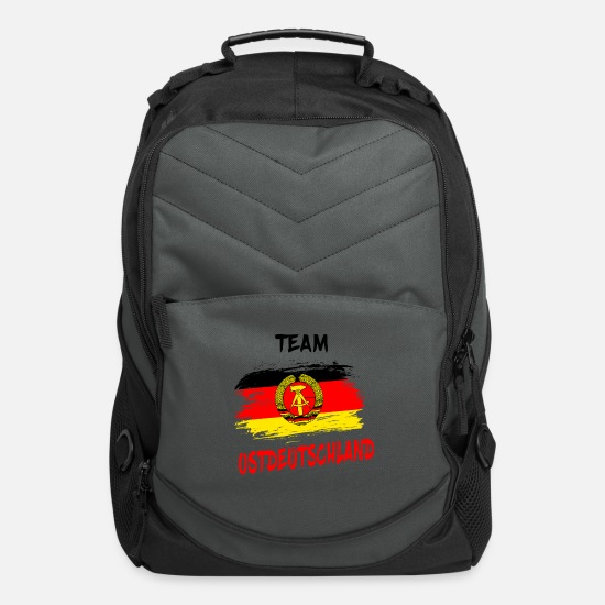 Germany Bags & Backpacks - Team Ostdeutschland / East Germany Gift Germany - Computer Backpack charcoal