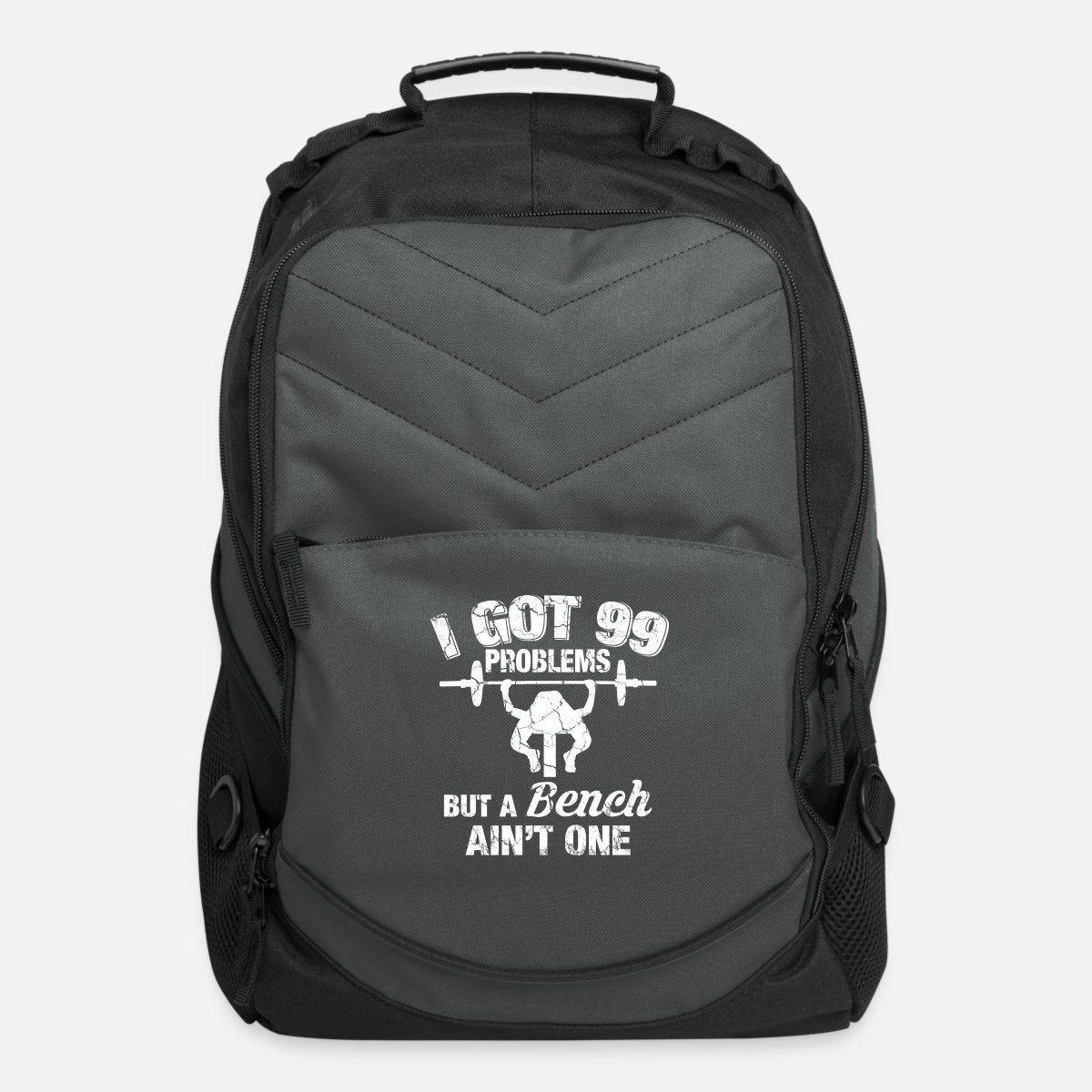 0cc1b6d0a0c4d Funny bodybuilder fitness gift bench press Computer Backpack - charcoal