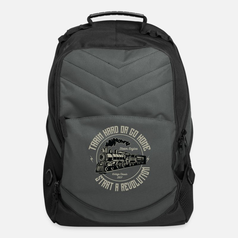 Trains Bags & backpacks - Train Hard Exclusive Tshirt Limited Edition - Computer Backpack charcoal