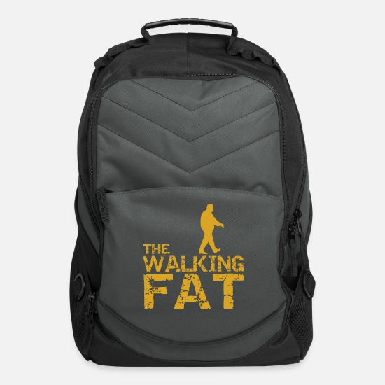 Gift Idea Bags & Backpacks - the walking fat - Computer Backpack charcoal