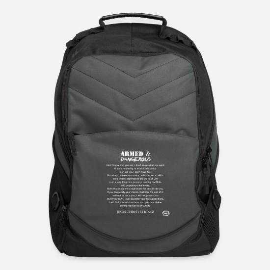 Christianity Bags & Backpacks - Armed and Dangerous - Computer Backpack charcoal