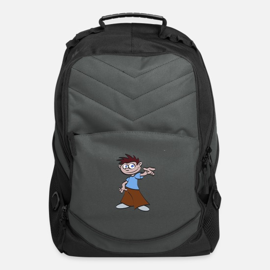 Art Bags & Backpacks - illustration - Computer Backpack charcoal