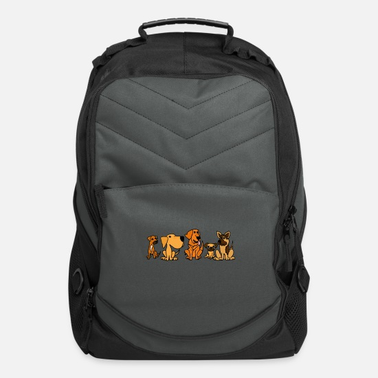 Pet Bags & Backpacks - Rescue Dog Friends - Computer Backpack charcoal