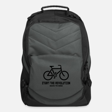 Cycling BACK TO BIKE START THE REVOLUTION - Computer Backpack