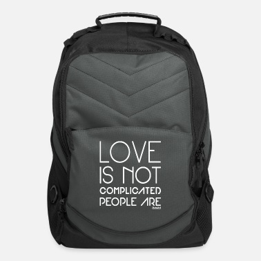Bachelor People are complicated not Love, Francisco Evans ™ - Computer Backpack