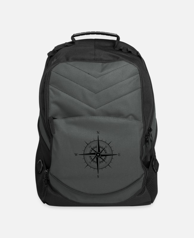 Sail Boat Bags & Backpacks - compass kompass boot boat schiff ship - Computer Backpack charcoal