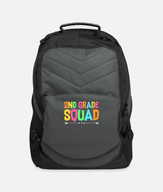 Second Grade Bags & Backpacks - 2Nd Grade Squad - Computer Backpack charcoal
