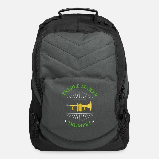 Orchestra Bags & Backpacks - Treble Maker Trumpet Teacher - Computer Backpack charcoal