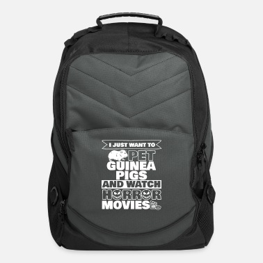 Movies Halloween Pet Watch Horror Movies guineapigs - Computer Backpack