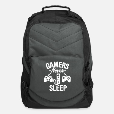 Geek Gamers never sleep - Computer Backpack