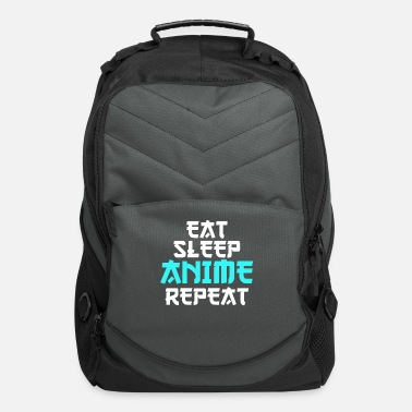 Japanimation Eat Sleep Anime Repeat cool funny gift birthday - Computer Backpack