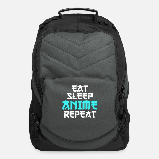 Birthday Bags & Backpacks - Eat Sleep Anime Repeat cool funny gift birthday - Computer Backpack charcoal