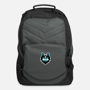 Hungry Wolf wolf face - Computer Backpack