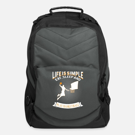 National Team Bags & Backpacks - basketball - Computer Backpack charcoal