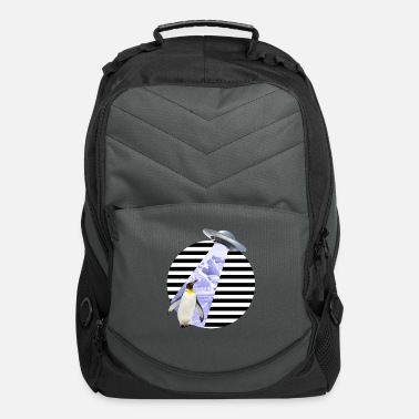 Scifi COOL PENGUIN UFO ALIEN OUTER SPACE SCIFI GIFT IDEA - Computer Backpack