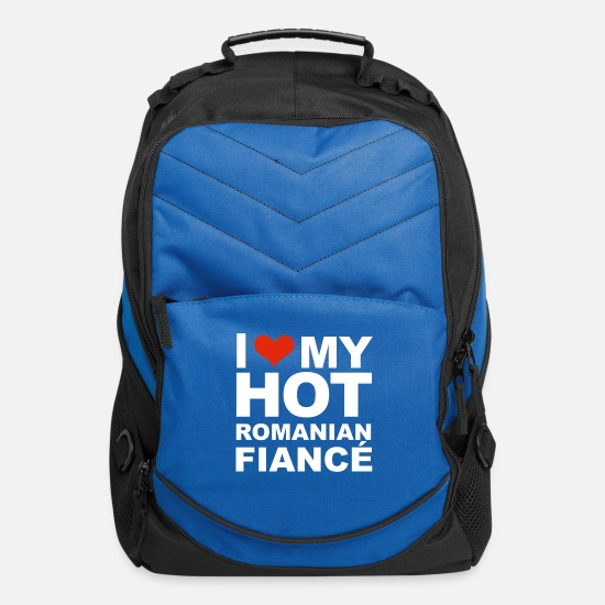 My Bags & Backpacks - I Love my hot Romanian Fiance Engaged Engagement - Computer Backpack royal blue