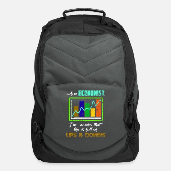 Economy Bags & Backpacks - Economy Economist Profession Occupation job - Computer Backpack charcoal