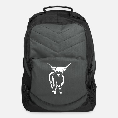 Cow Highland Cattle Gift I Highland Cow Image - Computer Backpack