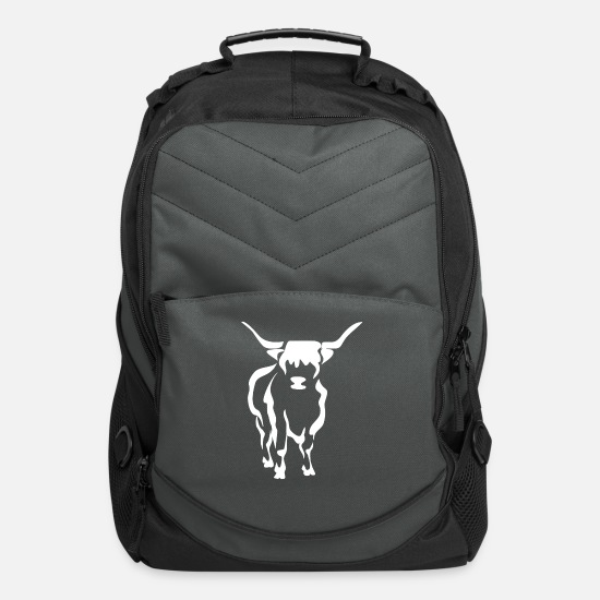 Highland Bags & Backpacks - Highland Cattle Gift I Highland Cow Image - Computer Backpack charcoal