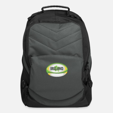 Ireland Ireland Rugby product - Irish Flag Rugby Football - Computer Backpack