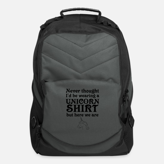 Alcohol Bags & Backpacks - Unicorn sarcasm penalty irony funny gift - Computer Backpack charcoal