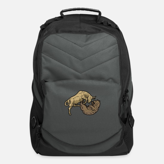 Stock Bags & Backpacks - STOCK EXCHANGE Bull Bear Broker Shares Gift - Computer Backpack charcoal