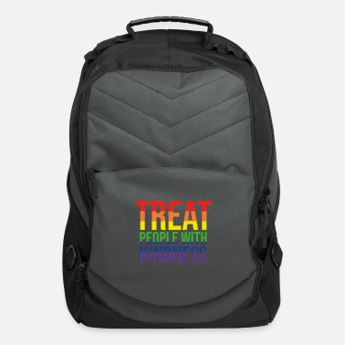 Treat Treat People with Kindness Gay Quote Same Love - Computer Backpack