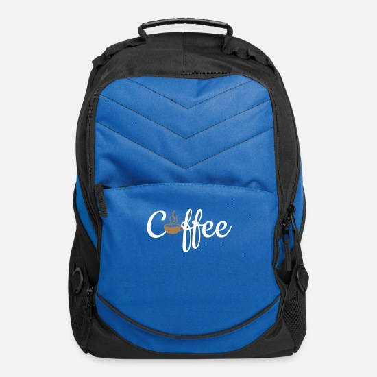 Caffeine Bags & Backpacks - Coffee - Computer Backpack royal blue
