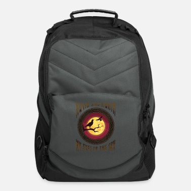 Hugin and Munin My Eyes in The Sky graphic - Computer Backpack