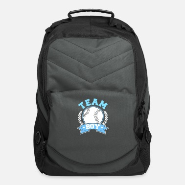 Pregnancy Announcement Baseball Gender Reveal Team Boy Gift - Computer Backpack