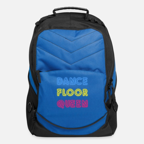 Dancer Bags & Backpacks - Dance Floor Queen 80s Neon Disco Party - Computer Backpack royal blue