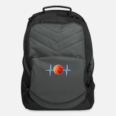 Basketball Player Basketball Heartbeat Basketball player and fans - Computer Backpack