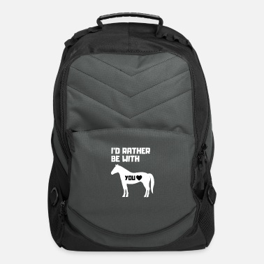 Horseriding I'D rather be with you Horseriding Rider Horses - Computer Backpack