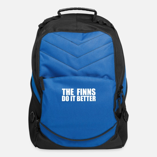 Finn Bags & Backpacks - Finns do it better Finland Finnish Pride Proud - Computer Backpack royal blue