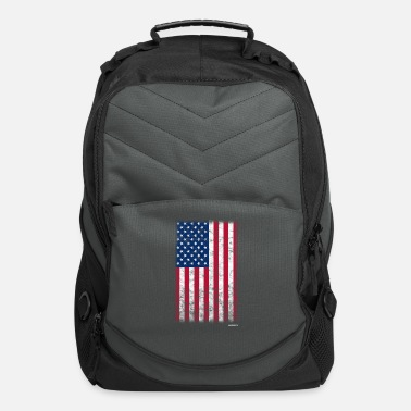 Distressed American Flag Distressed - Computer Backpack
