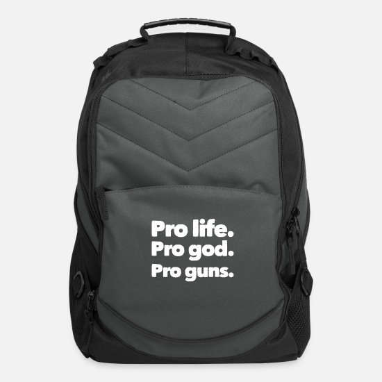 Gift Idea Bags & Backpacks - Pro Life Anti Abortion Guns - Computer Backpack charcoal