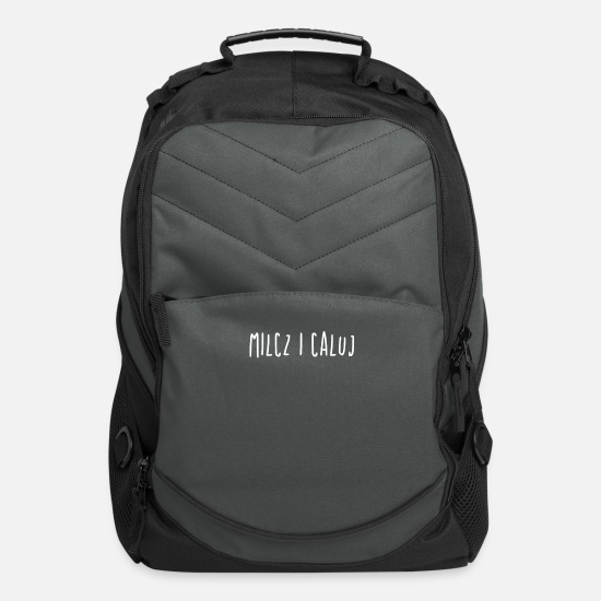 1233=1238-- Bags & Backpacks - Milcz I Caluj | Polish Pride, Poland, Polska - Computer Backpack charcoal