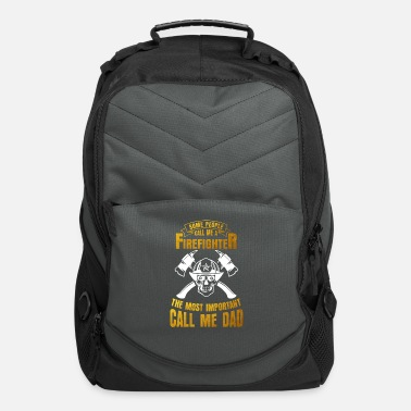 Fire Department Fire Department Flag America Fire Ax Gift - Computer Backpack