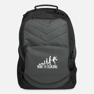 Climbing Mountains Carabiner evolution Gift - Computer Backpack