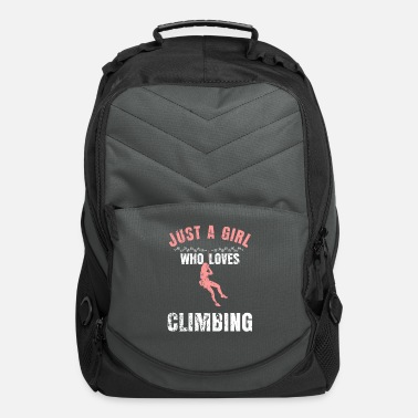 girl Climbing Mountains Carabiner Gift - Computer Backpack